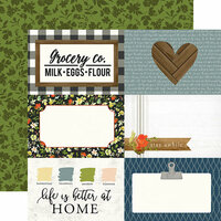 Carta Bella Paper - Welcome Home Collection - 12 x 12 Double Sided Paper - 4 x 6 Journaling Cards