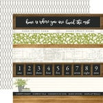 Carta Bella Paper - Welcome Home Collection - 12 x 12 Double Sided Paper - Border Strips