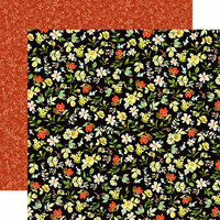 Carta Bella Paper - Welcome Home Collection - 12 x 12 Double Sided Paper - Flower Market