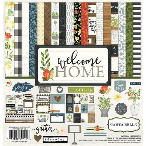 Carta Bella Paper - Welcome Home Collection - 12 x 12 Collection Kit