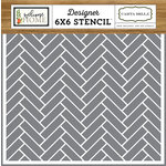 Carta Bella Paper - Welcome Home Collection - 6 x 6 Stencil - Chevron Tiles