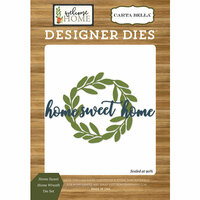 Carta Bella Paper - Welcome Home Collection - Designer Dies - Home Sweet Home Wreath