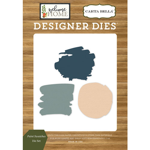 Carta Bella Paper - Welcome Home Collection - Designer Dies - Paint Swatches