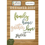 Carta Bella Paper - Welcome Home Collection - Designer Dies - Gather Home Word