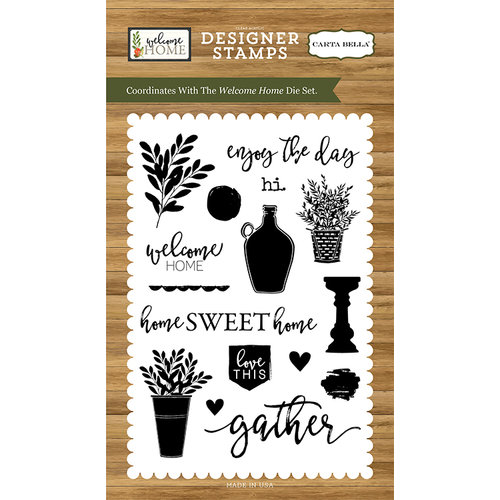 Carta Bella Paper - Welcome Home Collection - Clear Photopolymer Stamps - Welcome Home