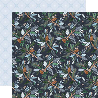 Carta Bella Paper - Winter Market Collection - 12 x 12 Double Sided Paper - Winter Floral