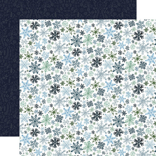 Carta Bella Paper - Winter Market Collection - 12 x 12 Double Sided Paper - Let It Snow