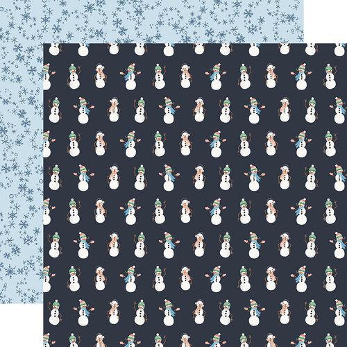 Carta Bella Paper - Winter Market Collection - 12 x 12 Double Sided Paper - Snowmen
