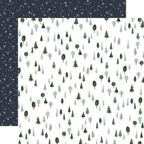Carta Bella Paper - Winter Market Collection - 12 x 12 Double Sided Paper - I Love Winter