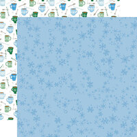 Carta Bella Paper - Winter Market Collection - 12 x 12 Double Sided Paper - Swirly Snowflakes