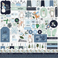 Carta Bella Paper - Winter Market Collection - 12 x 12 Cardstock Stickers - Elements