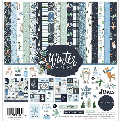 Carta Bella Paper - Winter Market Collection - 12 x 12 Collection Kit