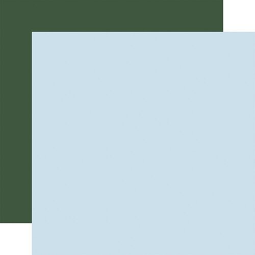 Carta Bella Paper - Winter Market Collection - 12 x 12 Double Sided Paper - Light Blue