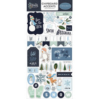 Carta Bella Paper - Winter Market Collection - Chipboard Stickers - Accents