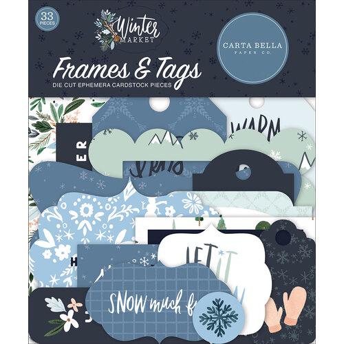 Carta Bella Paper - Winter Market Collection - Ephemera - Frames and Tags
