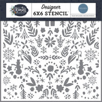Carta Bella Paper - Winter Market Collection - 6 x 6 Stencil - Winter Wonderland