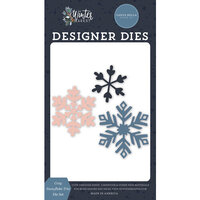 Carta Bella Paper - Winter Market Collection - Designer Dies - Cozy Snowflake Trio