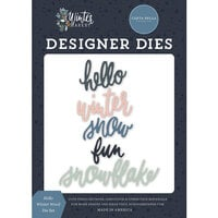 Carta Bella Paper - Winter Market Collection - Designer Dies - Hello Winter Words