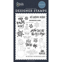Carta Bella Paper - Winter Market Collection - Clear Photopolymer Stamps - Warm Winter Wishes