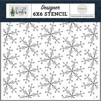 Carta Bella Paper - Welcome Winter Collection - 6 x 6 Stencils - Wonderland Snowflake