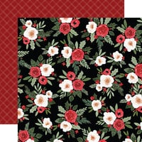 Carta Bella Paper - Happy Christmas Collection - 12 x 12 Double Sided Paper - Festive Floral