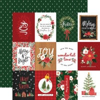 Carta Bella Paper - Happy Christmas Collection - 12 x 12 Double Sided Paper - 3 x 4 Journaling Cards