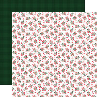 Carta Bella Paper - Happy Christmas Collection - 12 x 12 Double Sided Paper - Holiday Hollies