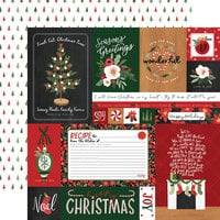 Carta Bella Paper - Happy Christmas Collection - 12 x 12 Double Sided Paper - Multi Journaling Cards