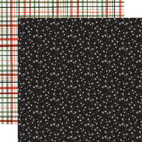 Carta Bella Paper - Happy Christmas Collection - 12 x 12 Double Sided Paper - Snowy Night