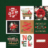 Carta Bella Paper - Happy Christmas Collection - 12 x 12 Double Sided Paper - 4 x 4 Journaling Cards