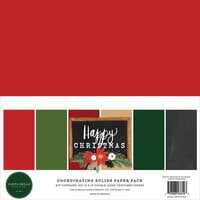 Carta Bella Paper - Happy Christmas Collection - 12 x 12 Paper Pack - Solids