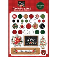 Carta Bella Paper - Happy Christmas Collection - Self Adhesive Brads