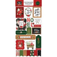 Carta Bella Paper - Happy Christmas Collection - Chipboard Embellishments - Phrases
