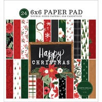 Carta Bella Paper - Happy Christmas Collection - 6 x 6 Paper Pad