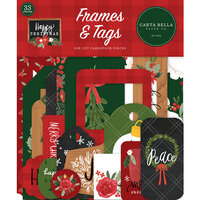 Carta Bella Paper - Happy Christmas Collection - Ephemera - Frames and Tags