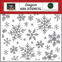 Carta Bella Paper - Happy Christmas Collection - Stencils - Happy Snowflakes