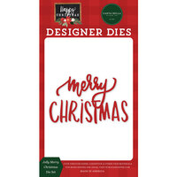 Carta Bella Paper - Happy Christmas Collection - Designer Dies - Jolly Merry Christmas