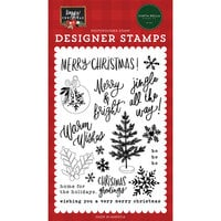 Carta Bella Paper - Happy Christmas Collection - Clear Photopolymer Stamps - Jingle All The Way