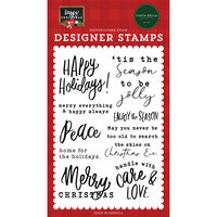 Carta Bella Paper - Happy Christmas Collection - Clear Photopolymer Stamps - Enjoy The Season
