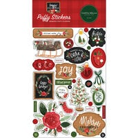 Carta Bella Paper - Happy Christmas Collection - Puffy Stickers
