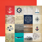 Carta Bella Paper - Yacht Club Collection - 12 x 12 Double Sided Paper - Sailing Cards