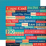 Carta Bella Paper - Yacht Club Collection - 12 x 12 Double Sided Paper - Paradise