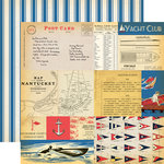Carta Bella Paper - Yacht Club Collection - 12 x 12 Double Sided Paper - Yacht Cards