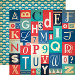 Carta Bella Paper - Yacht Club Collection - 12 x 12 Double Sided Paper - Alphabet Letters
