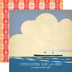 Carta Bella Paper - Yacht Club Collection - 12 x 12 Double Sided Paper - Ship at Sea