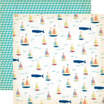 Carta Bella Paper - Yacht Club Collection - 12 x 12 Double Sided Paper - Whale of a Tale