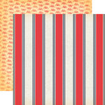 Carta Bella Paper - Yacht Club Collection - 12 x 12 Double Sided Paper - Nautical Stripe