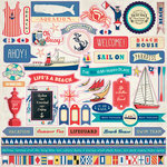 Carta Bella Paper - Yacht Club Collection - 12 x 12 Cardstock Stickers - Elements