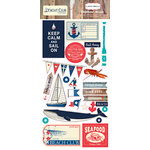 Carta Bella Paper - Yacht Club Collection - Chipboard Stickers