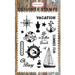 Carta Bella Paper - Yacht Club Collection - Clear Acrylic Stamps - Sea Breeze